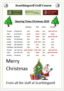 Christmas 15 opening times